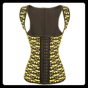 39430b01707c6 STEEL BONED BATMAN LATEX WAIST TRAINER VEST